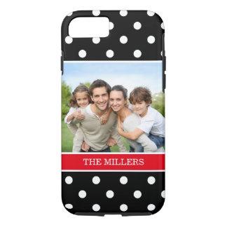 Trendy Polka Dots Favorite Family Portrait Photo iPhone 7 Case