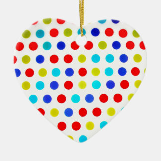 Trendy Polka dots poducts Ceramic Heart Ornament