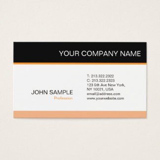 Trendy Professional Elegant Modern Simple Plain Business Card