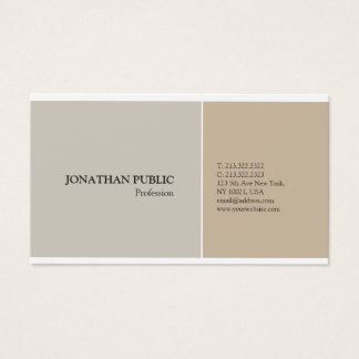 Trendy Professional Modern Elegant Harmonic Colors Business Card