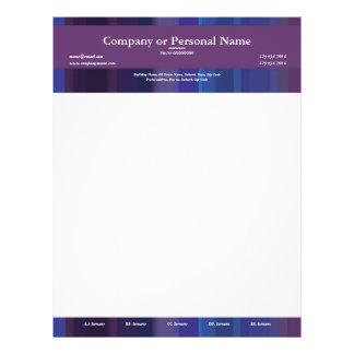 Trendy purple blue stripes - customizable letterhead