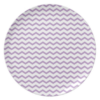 Trendy Purple Chevron Design Dinner Plates