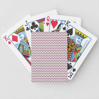 Trendy Purple Chevron Stripe Bicycle Playing Cards