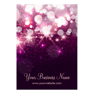 Trendy Purple Glitter Sparkle Earring Cards Pack Of Chubby Business Cards