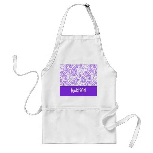 Trendy Purple Paisley Apron