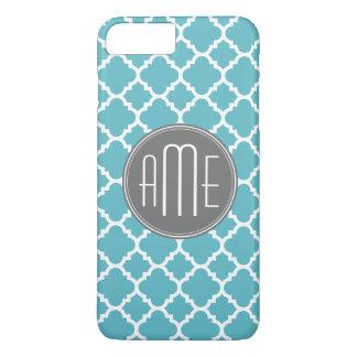 Trendy Quatrefoil Pattern Custom Triple Monogram iPhone 8 Plus/7 Plus Case