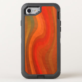 Trendy Red Abstract Wood Pattern OtterBox Defender iPhone 7 Case