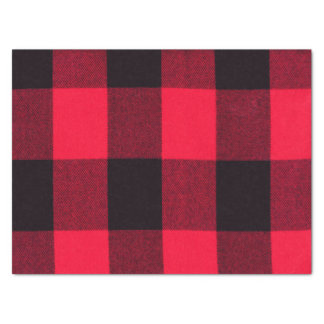 Trendy Red and Black Buffalo Plaid Cozy Tissue Paper