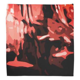 Trendy Red Camo Abstract Pattern Bandana