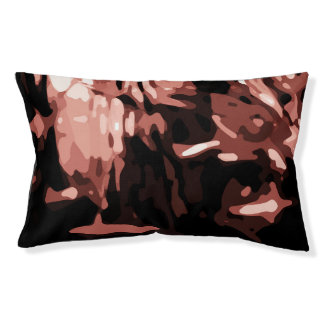 Trendy Red Camo Abstract Pattern Pet Bed