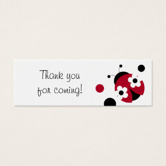 Trendy Red Ladybug Polka Dot Party Favor Gift Tags