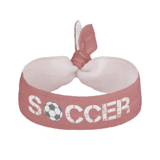 Trendy Red Soccer Ball Volleyball Hair Tie