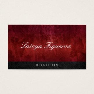 Trendy Red Vintage / Stylish Black Trim Business Card
