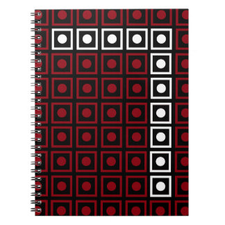Trendy Red, White & Black 8-bit LED Pixel Number 7 Notebooks