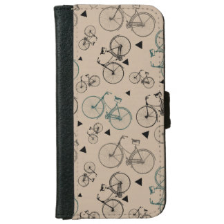 Trendy Retro Style Bicycles Pattern iPhone 6 Wallet Case