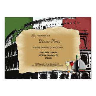 Trendy Roman Coliseum Dinner Party Invite