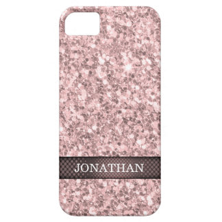Trendy Rose Gold Glitter White Sparks Case For The iPhone 5