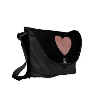 Trendy Rose Gold Heart Modern Courier Bag