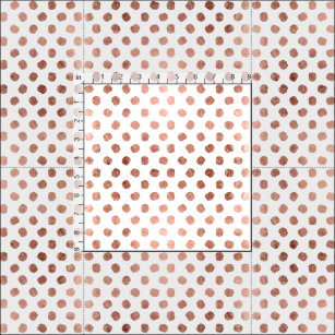 Trendy rose gold polka dots brushstrokes pattern fabric