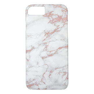 Trendy Rose Gold & White Marble Elegant Case-Mate iPhone Case