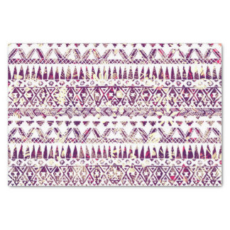 Trendy Rustic Tribal Aztec Pattern Tissue Paper