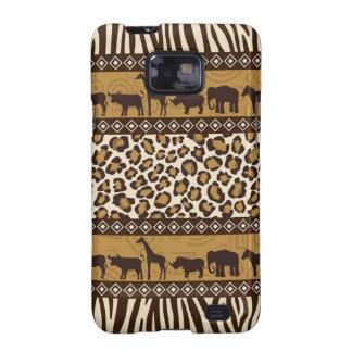 Trendy Safari Animal Print Case Galaxy S2 Covers