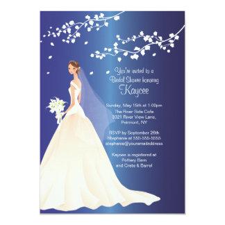 Trendy Sapphire Bride Bridal Shower Invite
