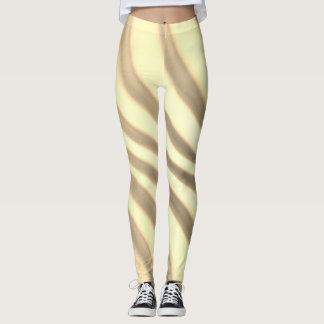 Trendy Sepia Swirl - Leggings