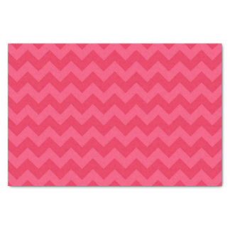 Trendy Shades of Pink Chevron Pattern Tissue Paper