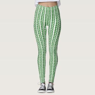 Trendy Shamrock Patterned Leggings