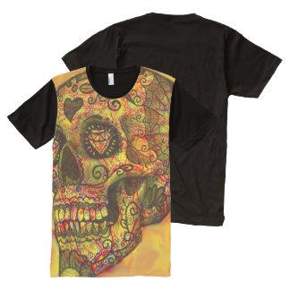 trendy Skull All-Over-Print T-Shirt