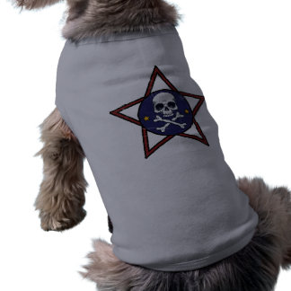 Trendy Skull and Star Dog T-shirt