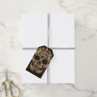 Trendy skull pack of gift tags