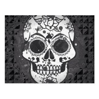 Trendy skull postcard
