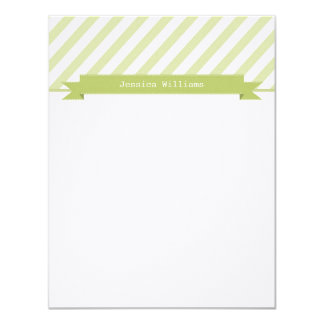 "Trendy & Sleek Note Cards 4.25"" X 5.5"" Invitation Card"