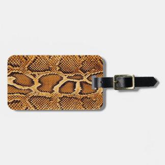 Trendy Snake Skin Luggage Tag