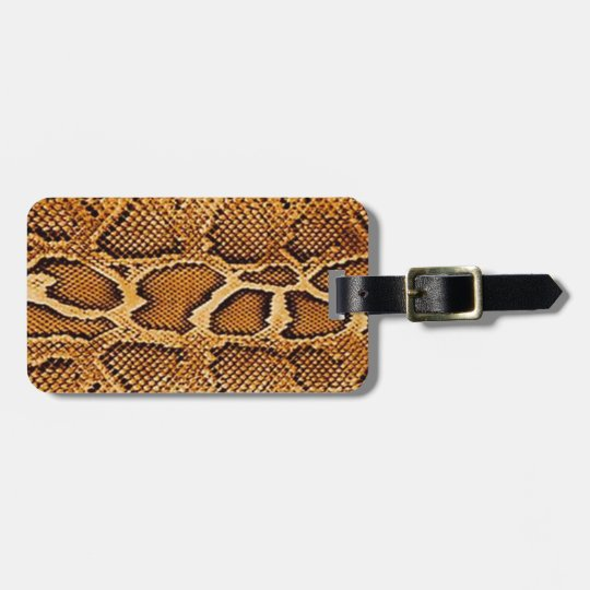Trendy Snake Skin Luggage Tag