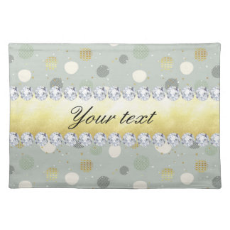 Trendy Snow Polka Dots Stars Diamonds Placemat