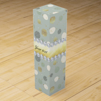 Trendy Snow Polka Dots Stars Diamonds Wine Box