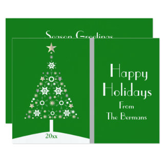 Trendy Sparkle & Stars Abstract Christmas Tree Card