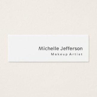 Trendy Special Modern Grey Makeup Artist Mini Business Card