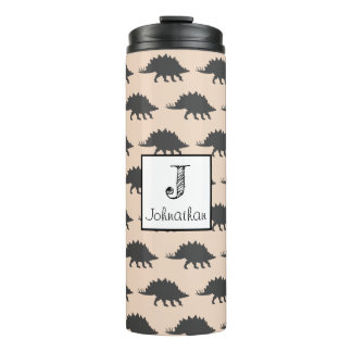 Trendy Stegosaurus Dinosaur Personalized Thermal Tumbler