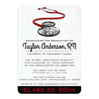Trendy Stethoscope Medical School Graduation Card