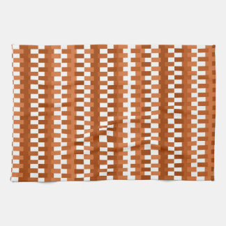 Trendy Stripes Pattern-Brown And White Towels