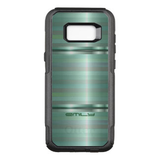 Trendy Stripes Shades Of Green OtterBox Commuter Samsung Galaxy S8+ Case