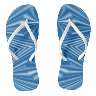 Trendy Stylish Blue Pattern Flip Flops