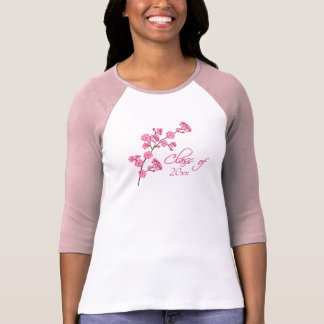 Trendy stylish cherry blossom graduation t-shirt