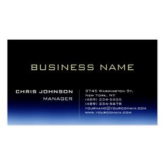 Trendy Stylish Dark Blue Manager Business Card