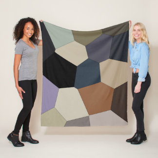 Trendy Stylish Earth Toned Cool Pattern Fleece Blanket