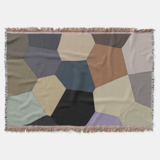 Trendy Stylish Earth Toned Cool Pattern Throw Blanket